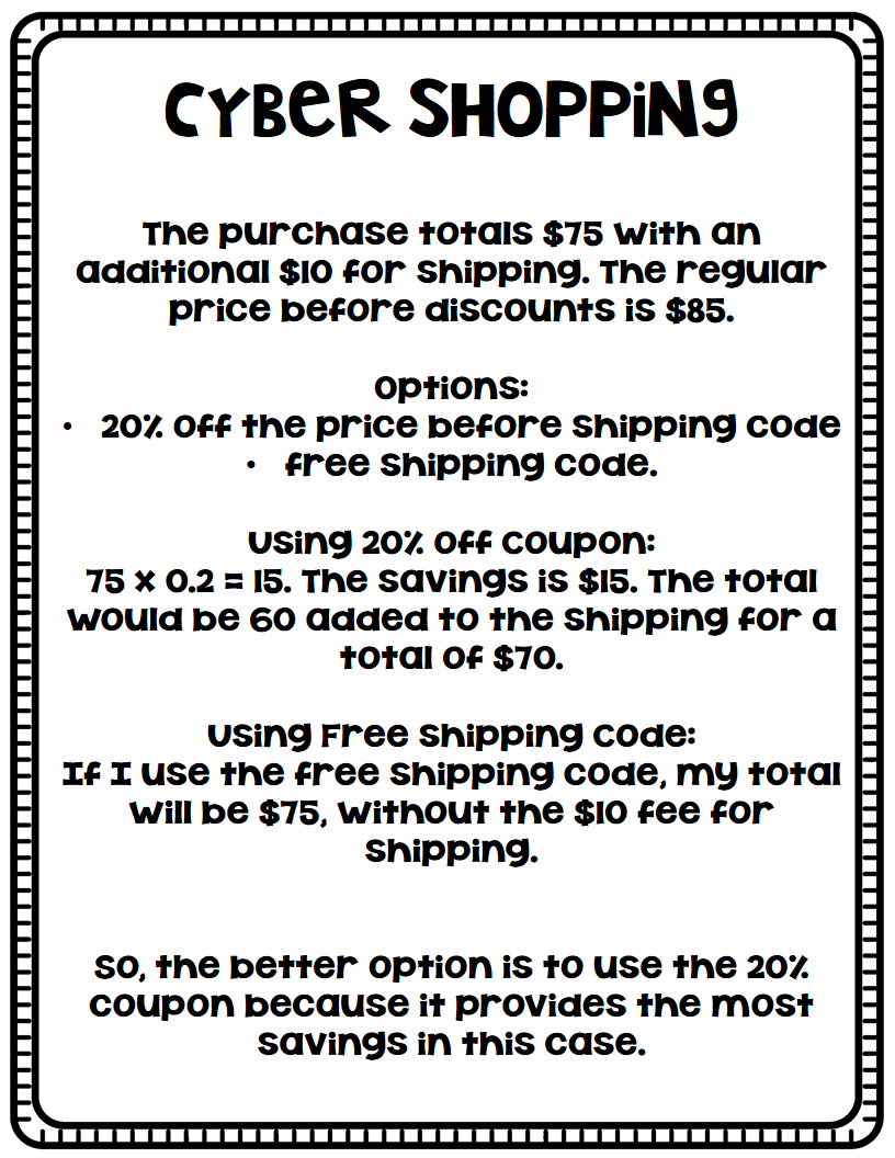 teaching math coupons bie teaching to inspire after doing all that math coupons and shopping i decided this was a great way to teach percentages and multiplying decimals