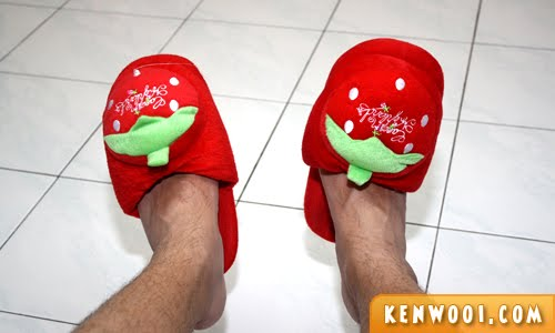 strawberry slippers