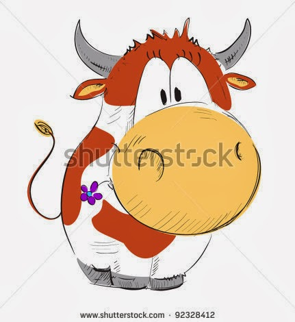 cow, cute, animation