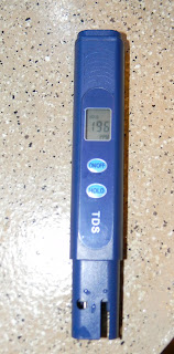 TDS meter results tap