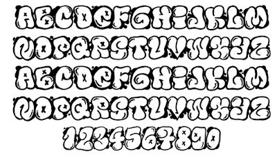 graffiti letter a-z,Graffiti Fonts