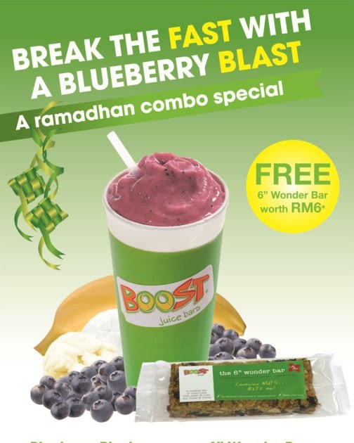 "Blog For Food: Boost Juice Bars: Free 6"" Wonder Bar With"