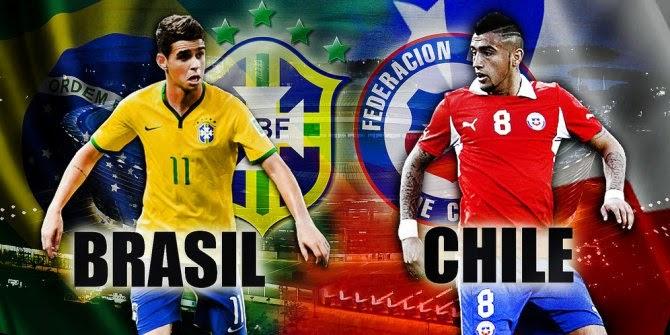 PREVIEW Pertandingan Brasil vs Chile 28 Juni 2014 Malam Ini
