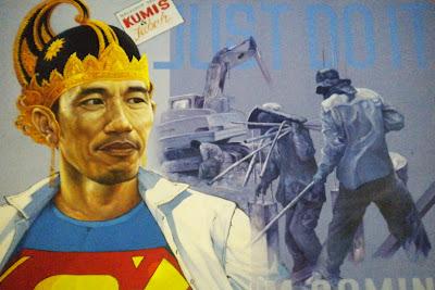 Jokowi Menjadi Superman bagi Warga DKI Jakarta Tak lupa Blankonnya