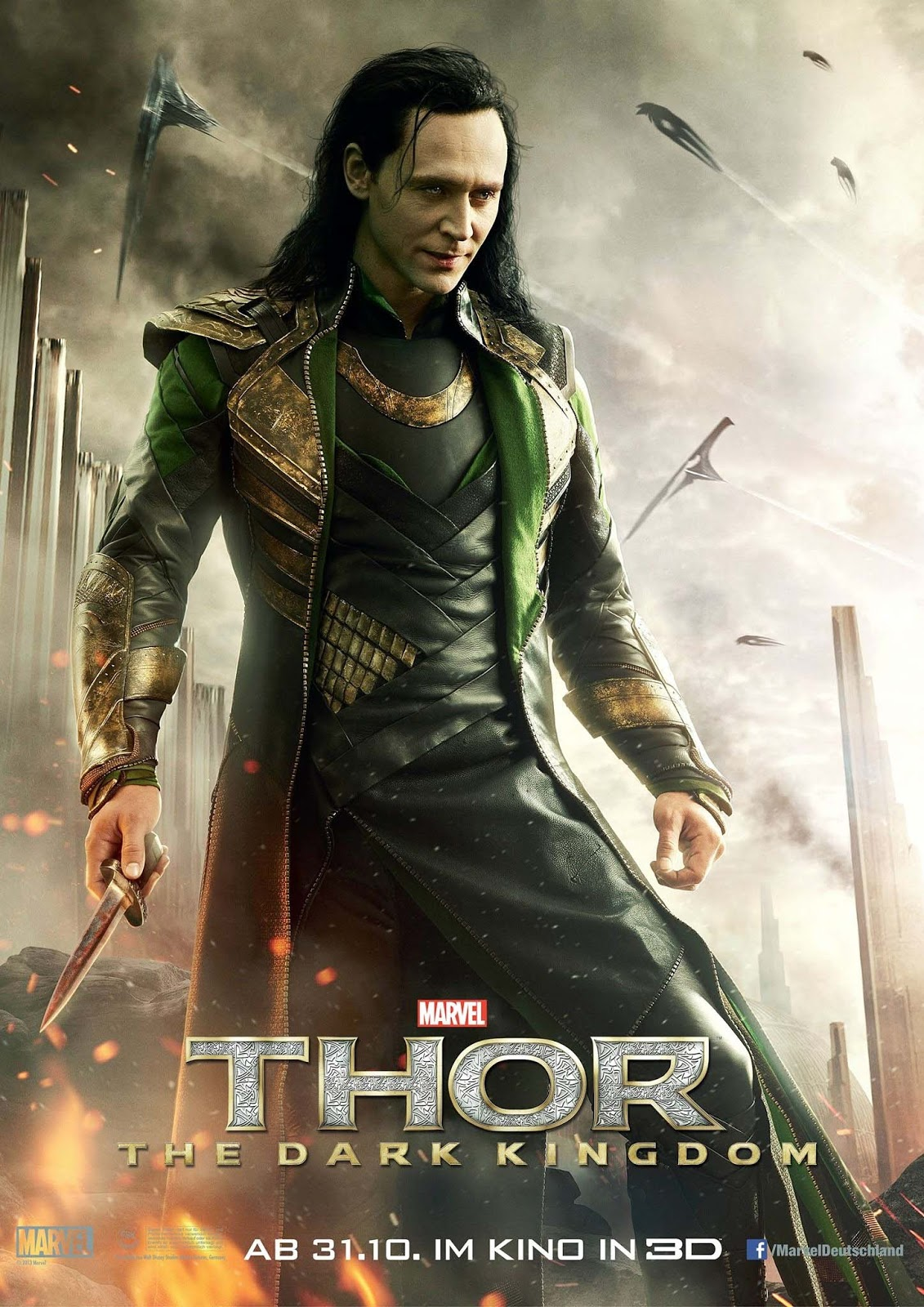 Tom Hiddleston Looks Rough as Loki in New 'Thor: The Dark ...