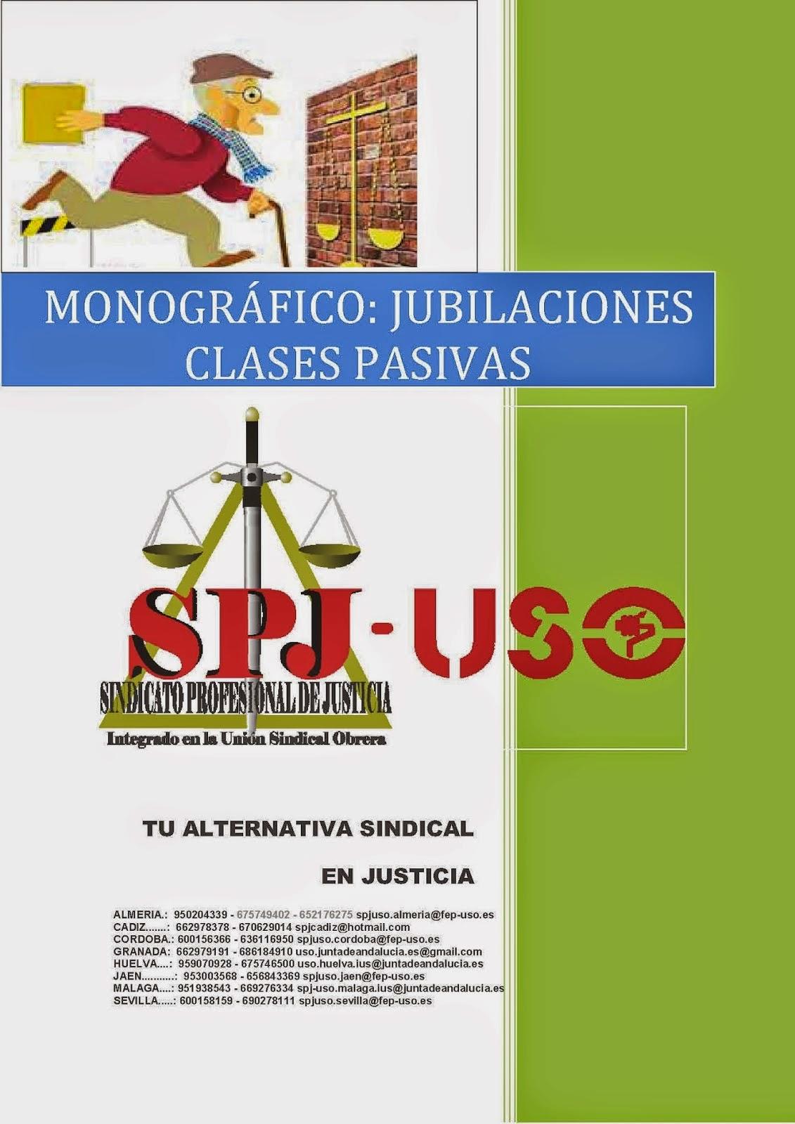 BOLETIN MONOGRAFICO JUBILACIONES CLASES PASIVAS