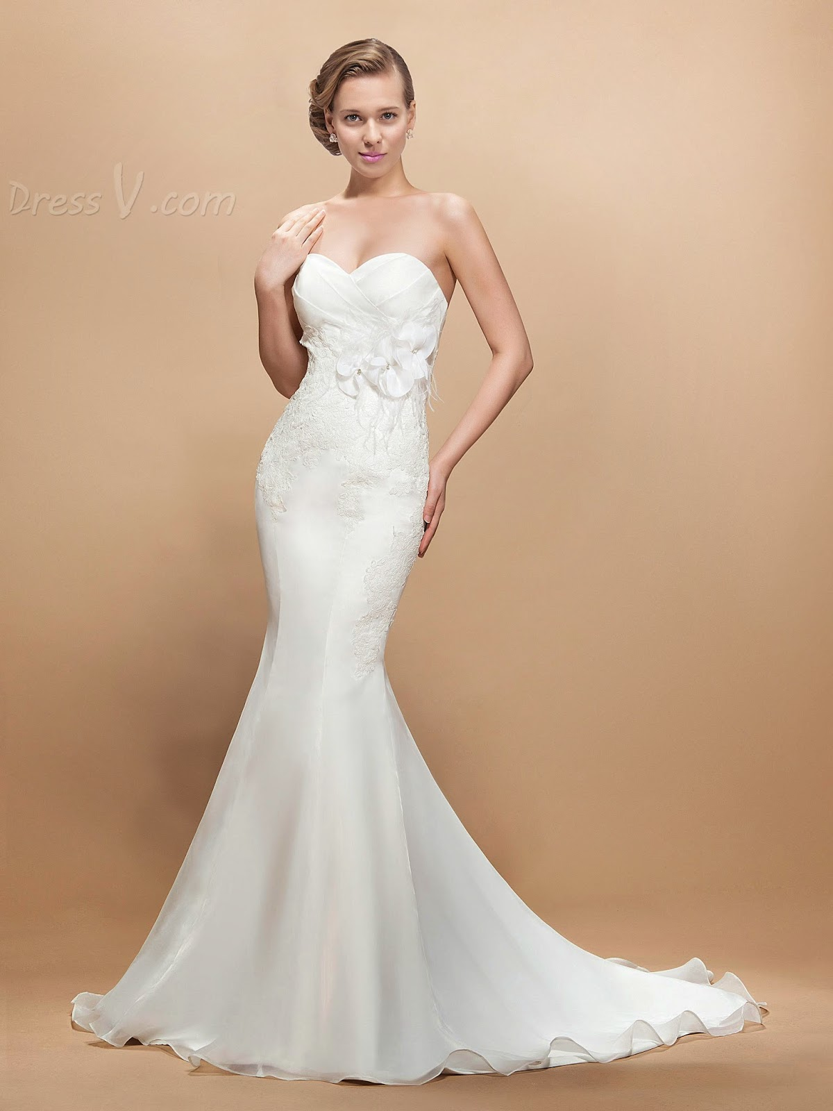 Mermaid Wedding Dresses with a Twist at DressV
