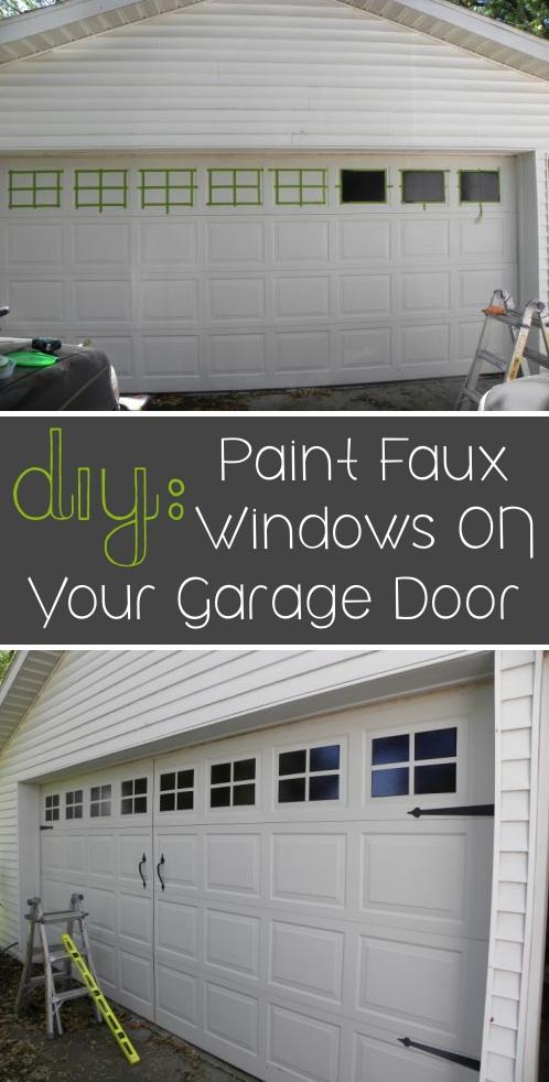 Metal Garage Door Makeover With Simple Paint. September 17, 2014