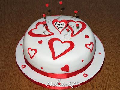 torta cuori rossi