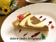 Mramorový tvarohový koláč - recept