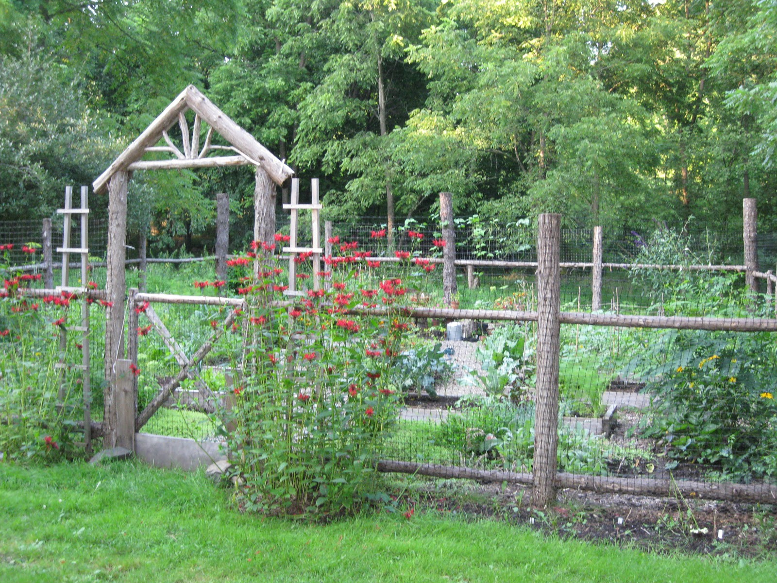 Two men and a little farm inspiration thursday rustic Garden fence ideas