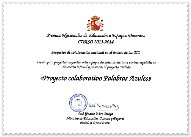 Diploma Premio Nacional