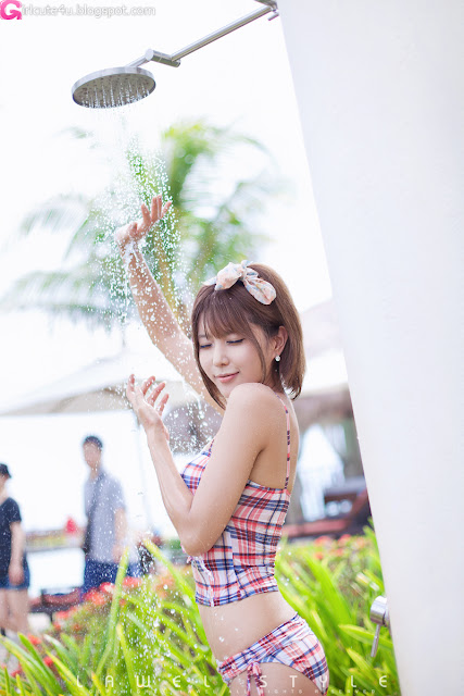 Heo-Yun-Mi-Plaid-Tankini-04-very cute asian girl-girlcute4u.blogspot.com