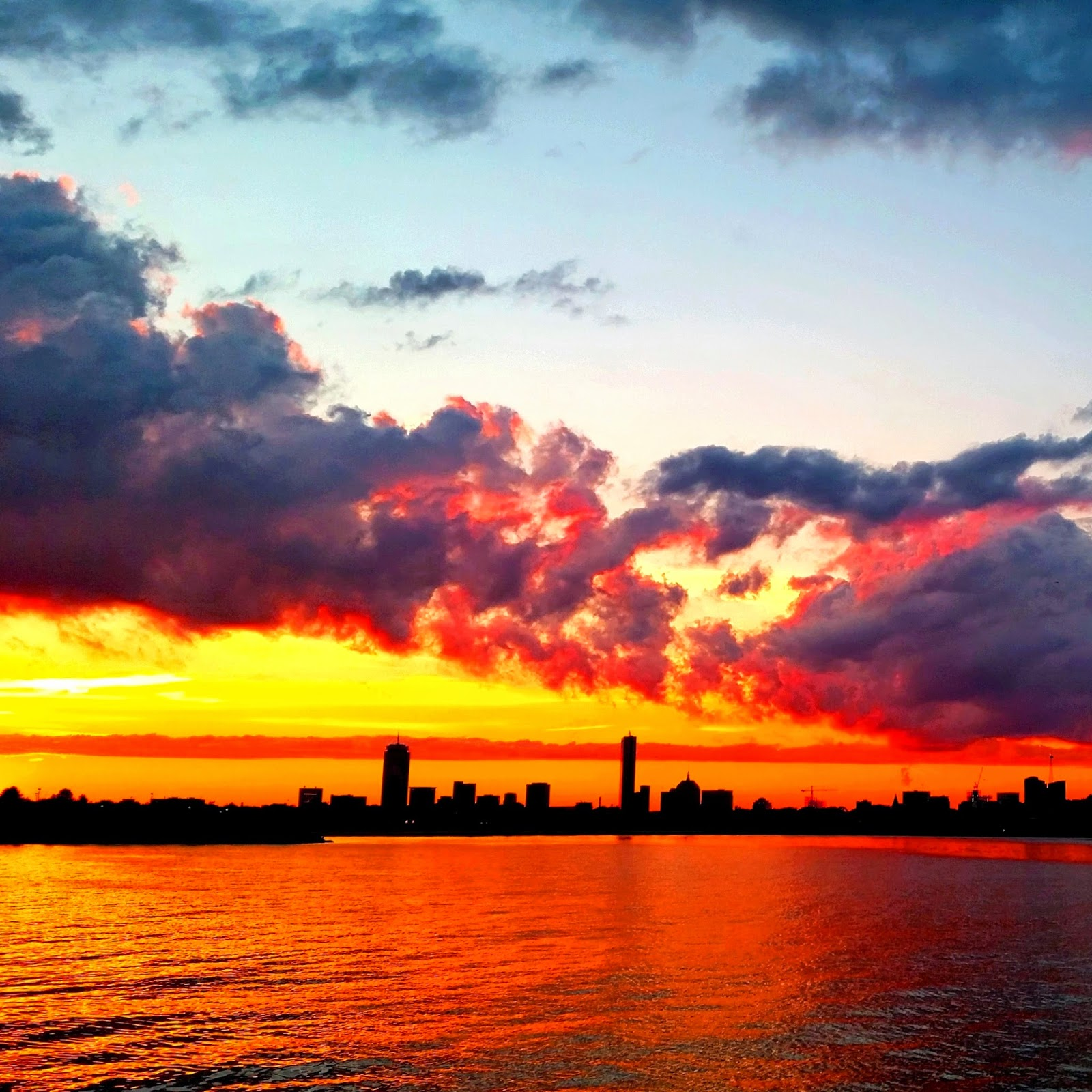 South Boston Harbor Sunset, Boston MA