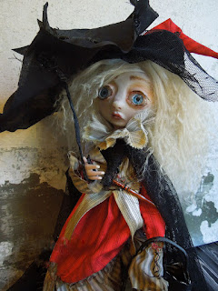 art doll, lulu lancaster dolls, lulusapple,witch doll