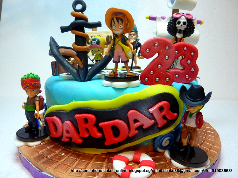 The Sensational Cakes One Piece Cake Singapore Pirate Theme Cake