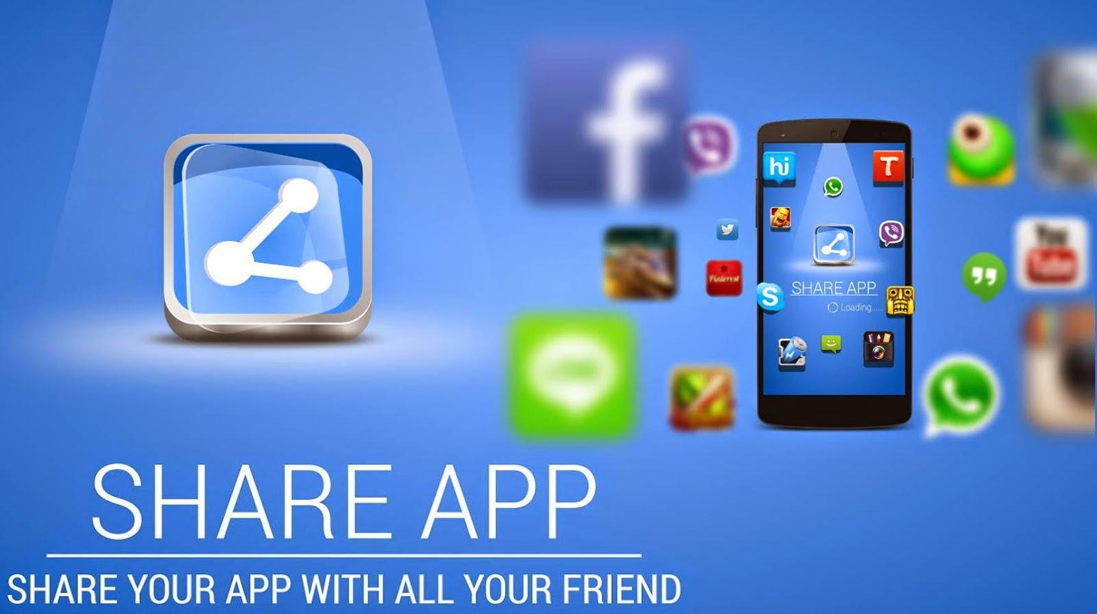 تطبيق Share Apps لإرسل أي تطبيق مثبت على هاتفك إلى أصدقائك مجانا
