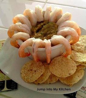 shrimp & spicy guacamole