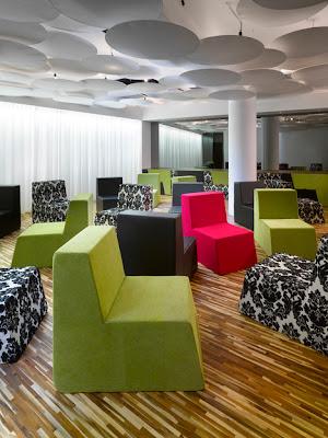 Design und Farbe im Moods Hotel, Prag