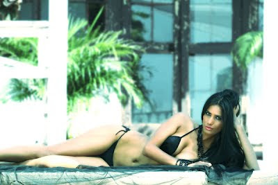 Poonam Pandey in Hot Black Bikini