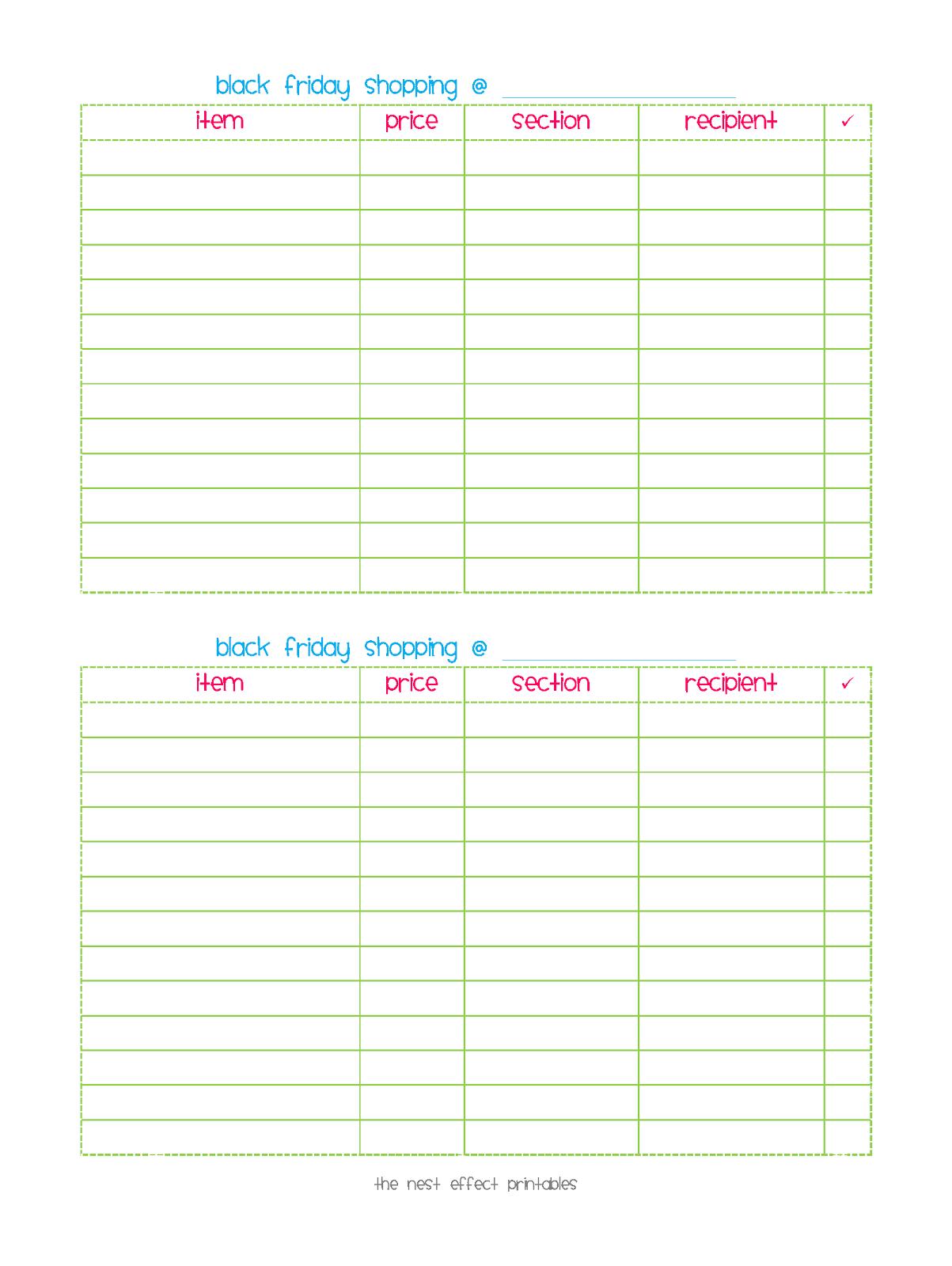 "... ""Printable Blank Shopping List For Groceries"" – Calendar 2015"