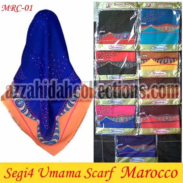 Jilbab Segi Empat Umama Scarf Marocco - www.azzahidahcollections.com