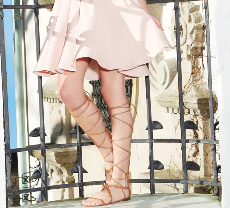 Valentino spring summer 2015, high top gladiator sandals