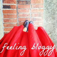 feeling bloggy
