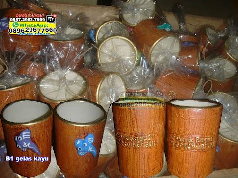 gelas kayu murah