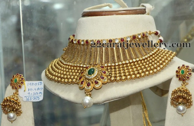 160 Grams Kundan Necklace