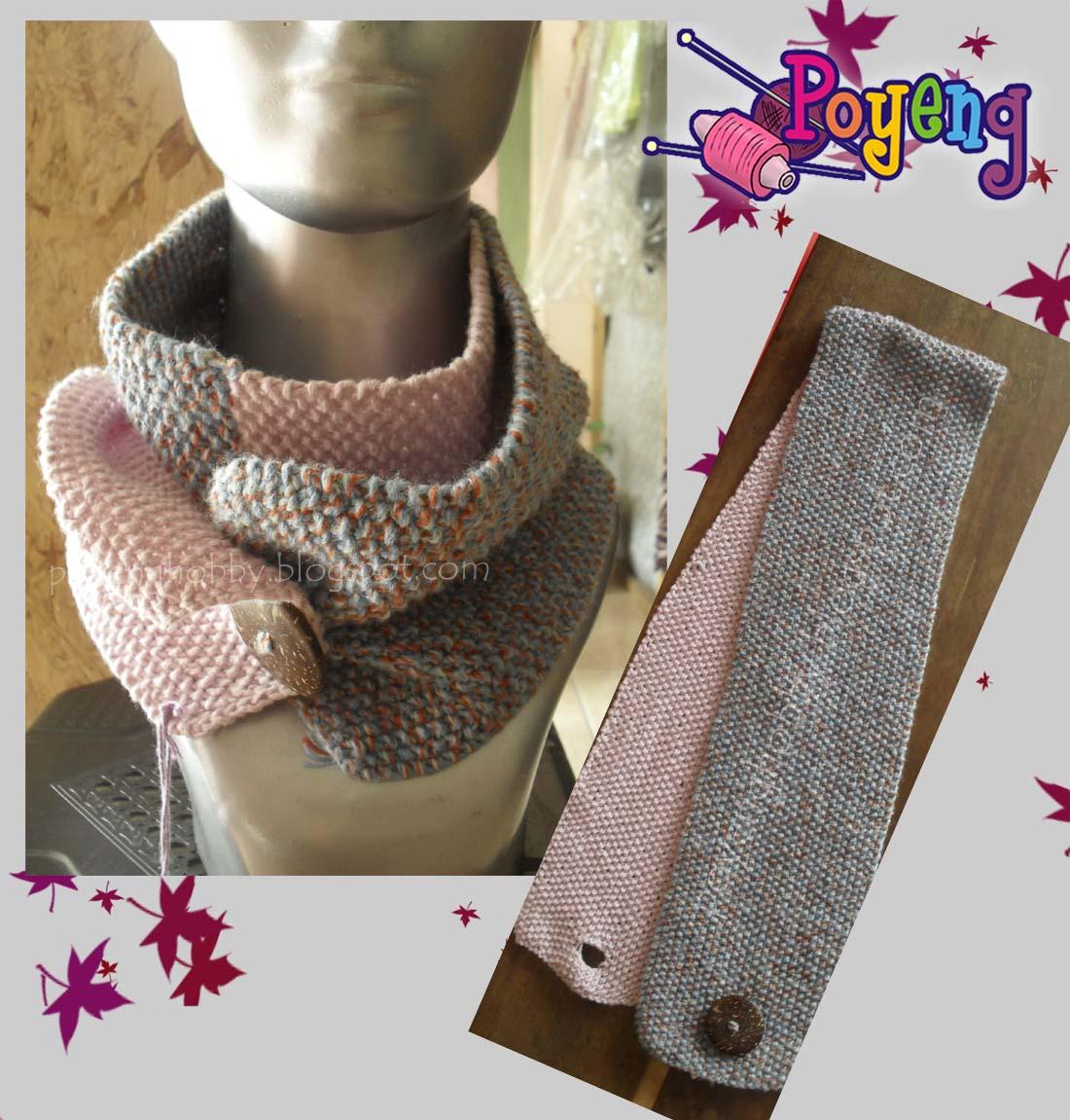 Ajeng Belajar Merajut: Rajut Free Knitting Pattern : Two Tone Neck ...