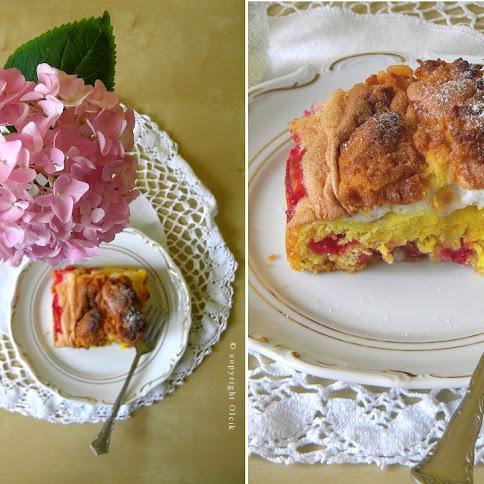 Ciasto  à la  pleśniak, z porzeczkami