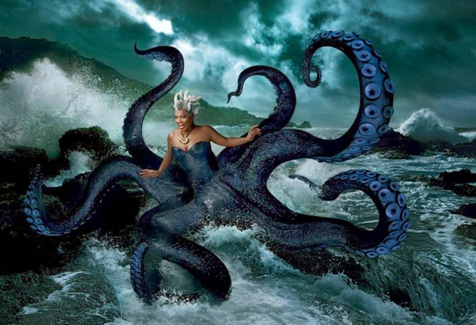 Queen Latifah caracterizada como Úrsula de la Sirenita