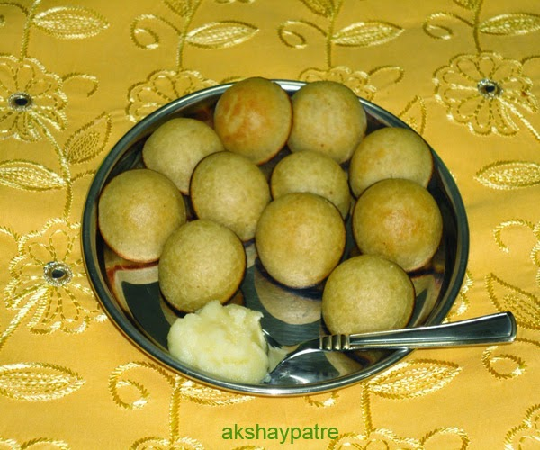 Rice appe or paniyaram in a serving plate