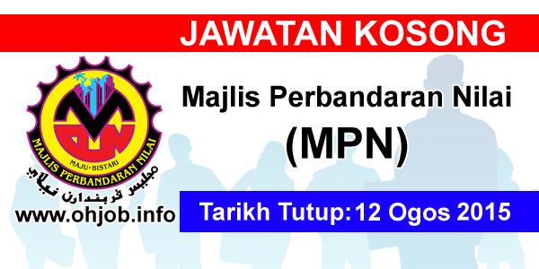 Jawatan Kerja Kosong Majlis Perbandaran Nilai (MPN) logo www.ohjob.info ogos 2015