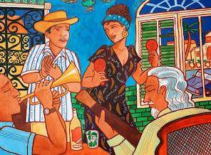 Dibujos alusivos a la música cubana