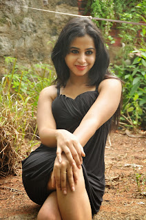 Telugu Actress Swathi Deekshith Latest Picture Gallery in Black Short Dress  0017.jpg