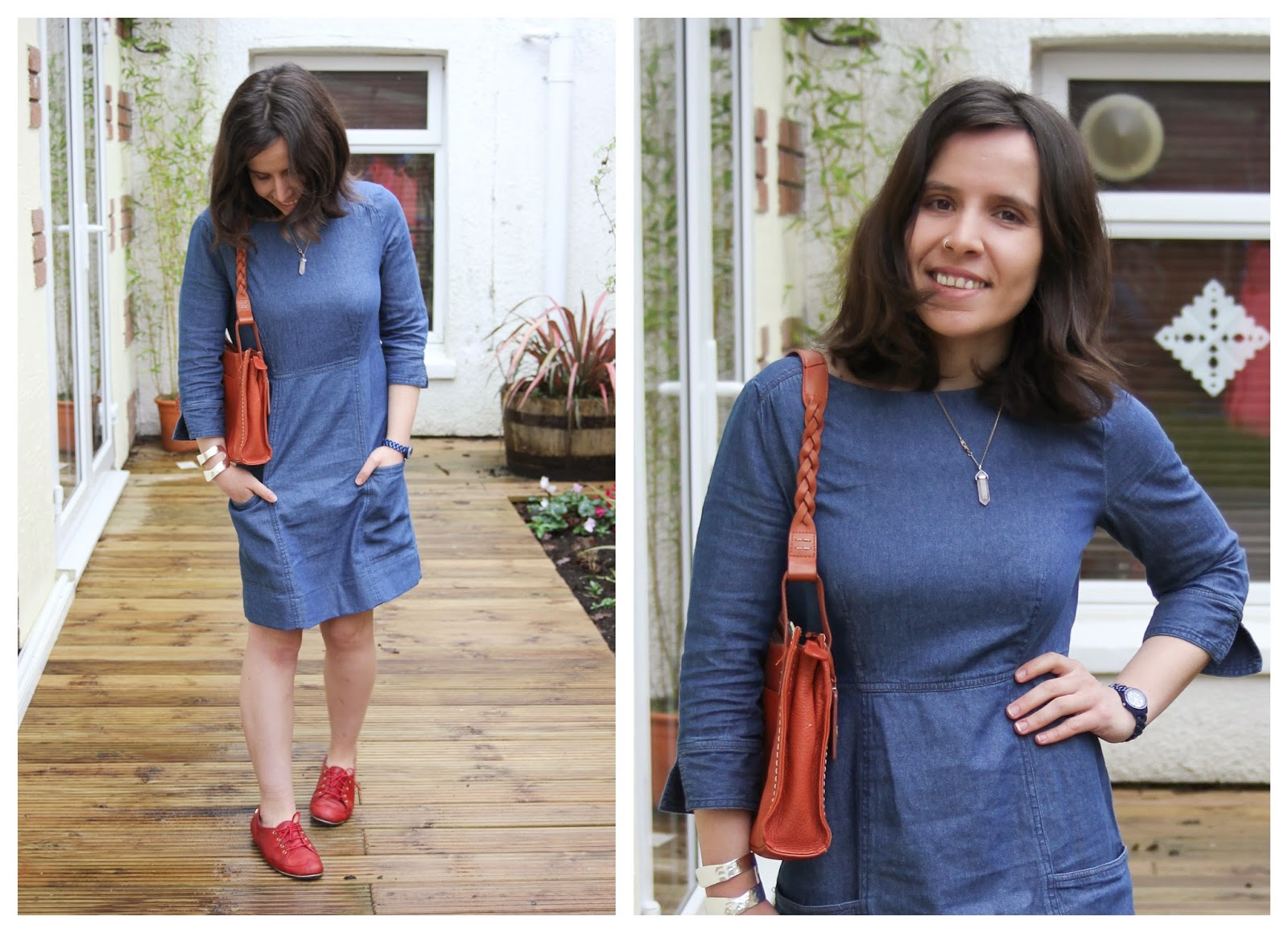 Joules denim dress