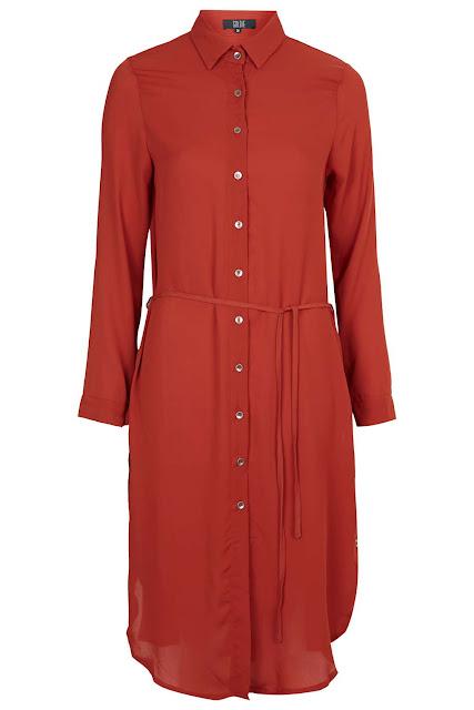 red shirt dress, goldie red shirt dress,