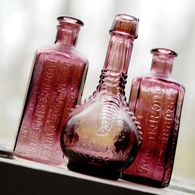 Roxo Wheaton garrafas Bitter