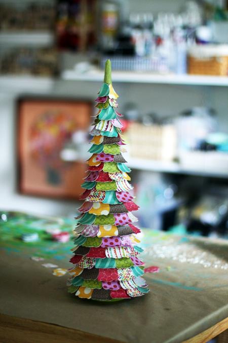 árvore de natal para fazer com papel