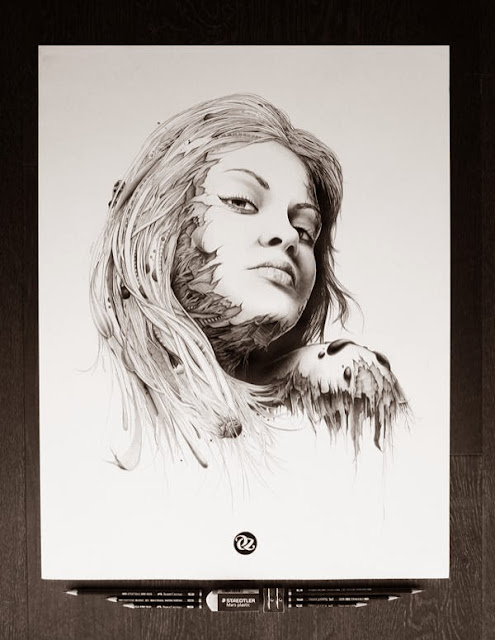 Illustration Pencil Drawings by PEZ