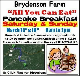 3-15/16 All You Can Eat Pancake Breakfast