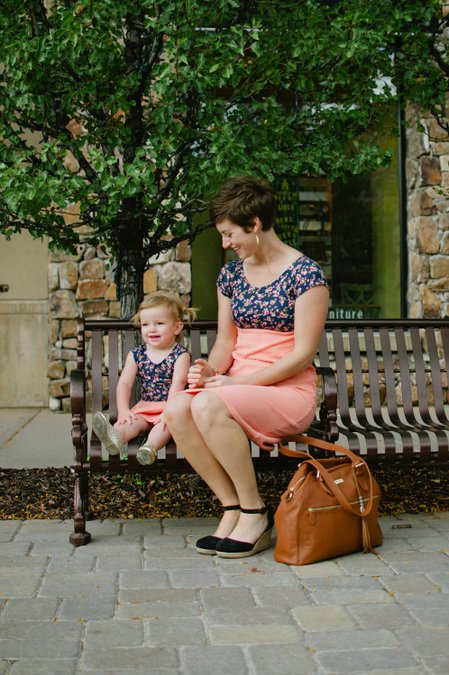 Giveaway!!! Enter to win a matching mommy and me dress set from London Bridges Clothing and a Rosie designer diaper bag from Lily Jade