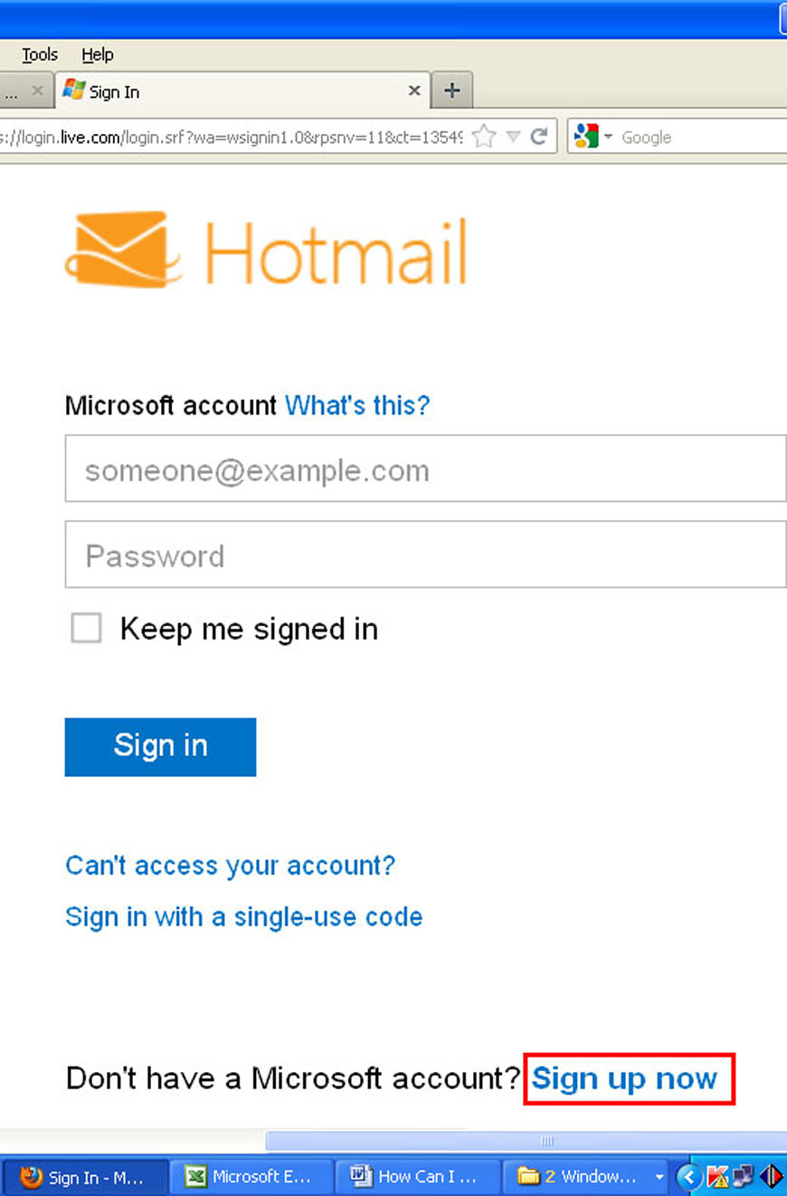 Hotmail Inbox To their inbox. generally