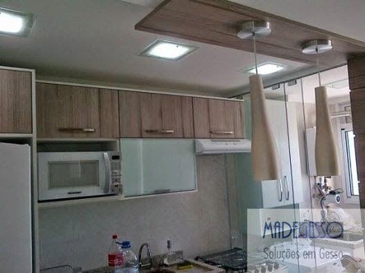 madegesso Forro de gesso em cozinha para luminárias embutidas # Decoração De Forro De Gesso Para Cozinha