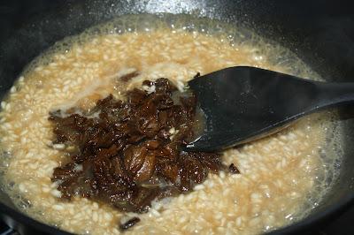 ricetta risotto con funghi secchi