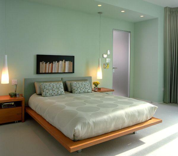 Dormitorios con paredes verdes dormitorios con estilo - Color paredes habitacion ...