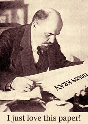 Lenin reading Tidens Krav