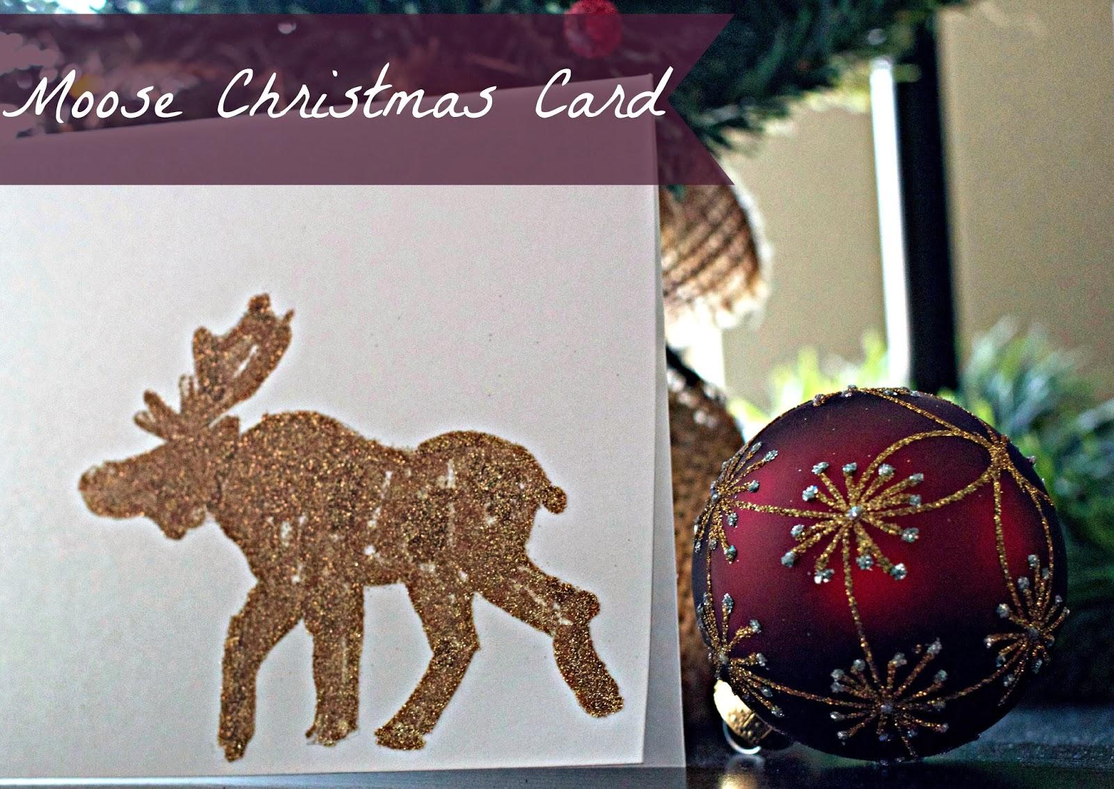 DIY - Moose Christmas Cards - Taylor Allan Photography
